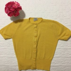 Vintage Button Down Short Sleeve Cardigan